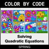Spring Color by Code - Solving Quadratic Equations