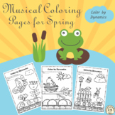 Spring Music Coloring Pages | Color by Dynamics