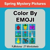 Spring: Color by Emoji - Mystery Pictures