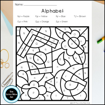 Spring Color by Letter | Spring Alphabet Coloring Pages