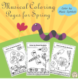 Spring Music Coloring Pages | Music Symbols
