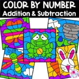 Spring Color by Number Addition Facts & Subtraction Facts