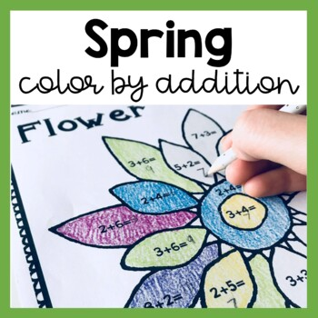 Spring Color by Number: Addition (to 5, 10, 20 & 100)!