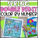 Color by Number Spring Mystery Pictures: Double Digit Addition & Subtraction