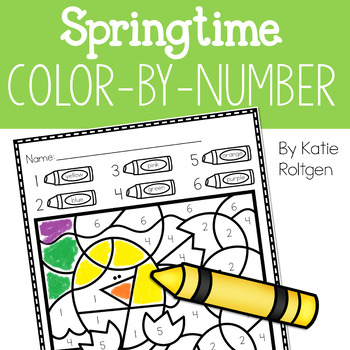 Spring Color-by-Number Pages