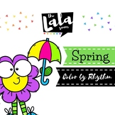 Spring Color by Rhythm - Musical Coloring Sheets