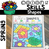Spring Color by Code Shapes