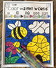 Spring Color by Code Sight Words Pre-Primer