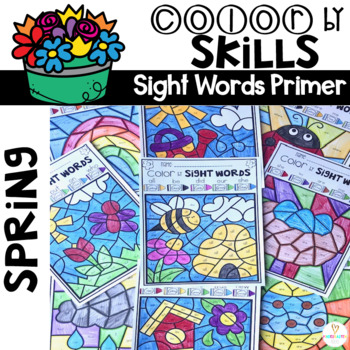 Spring Color by Sight Words (Primer)