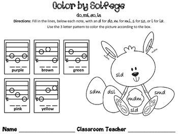 Spring Color by Solfege - Do, Mi, So, & La Practice