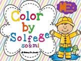 Spring Color by Solfege - So & Mi Practice