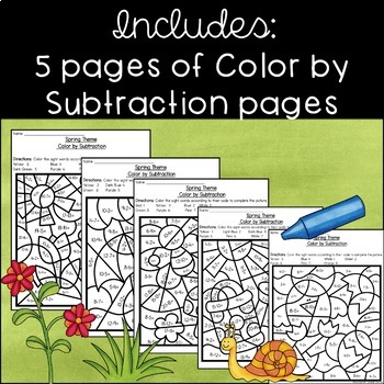 Spring Color by Subtraction