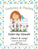 Spring Color-by-Vowels (Short & Long), 8 Total-4 Short Vowel & 4 Long Vowel