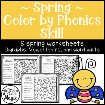 Spring Color by Word Parts