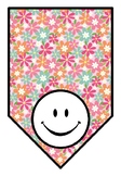 Spring, Colorful Flowers Classroom Decor, Blank Pennant Banners