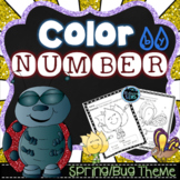 Spring Coloring - Color by Number