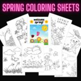 Spring Coloring Activity Sheets