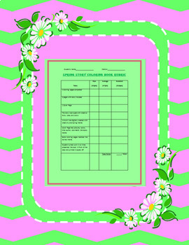 Spring Coloring Book