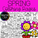 Spring Coloring Pages {Made by Creative Clips Clipart}