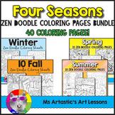 Seasons Coloring Pages Bundle