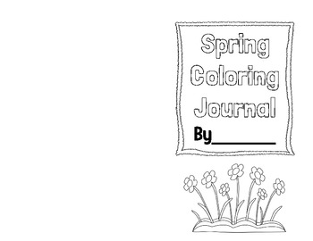 Spring Coloring Journal