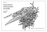 Spring Coloring Page - Nesting   By Artist Sandra Mucha -