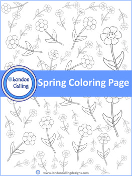 Spring Coloring Page - Spring Themed