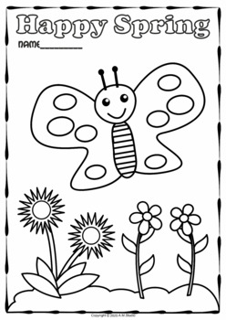 spring coloring pagesanastasiya multimedia studio  tpt