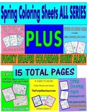 Spring Coloring Pages ALL SERIES-15 Pages Total