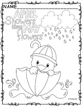 Spring Coloring Pages- April Showers Bring May Flowers by ...