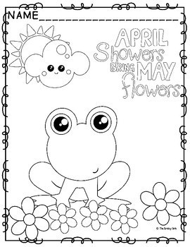 april showers free coloring pages | Spring Coloring Pages- April Showers Bring May Flowers by ...