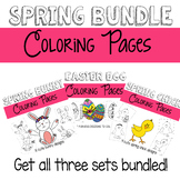 Spring Coloring Pages Bundled