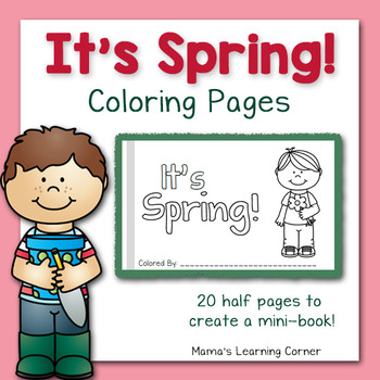 Spring Coloring Pages - Create a Mini-Book!