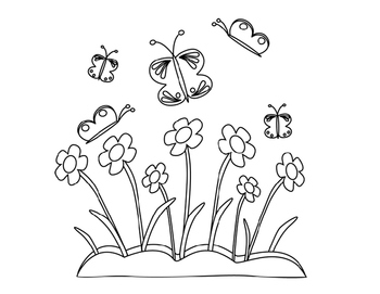 Spring Coloring Pages FREEBIE