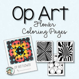 Spring Coloring Pages - Op Art Flowers