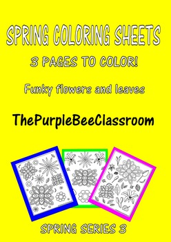 Spring Coloring Pages Set #3
