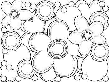 Coloring sheet: Spring
