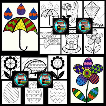 Spring Coloring Sheets Pop Art Inspired