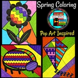 Spring Coloring Pop Art Inspired