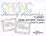 Spring Coloring Sheets | Spring Placemats | Easter Coloring Placemats