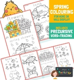 Spring Coloring Sheets With Word Trace