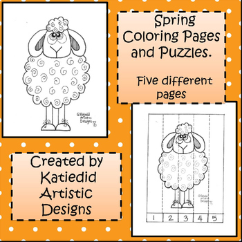 Spring Coloring and Puzzle Project