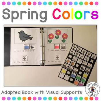 Spring Colors Adapted Book with Interactive Visuals
