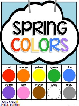 Spring Colors Adapted Book FREEBIE