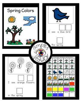 Spring Colors Adapted Book and Literacy Center Bundle