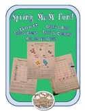 Spring Colors M&M Sort, Graph, Tally, Compare, and Roll an