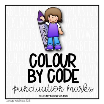 Spring Colour By Code for Australian Punctuation Marks