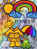 Spring Colouring and Vocabulary ~ Le printemps