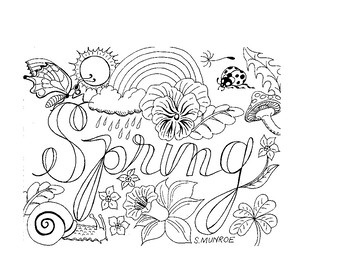 Spring Colouring Page by Apples