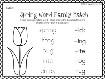 Spring Literacy Centers and Activities for Kindergarten